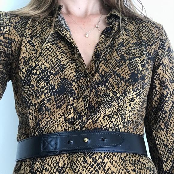 03ec4a2c Zara shirt dress snake skin maxi sz S NWT